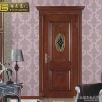 定制手动平开门 简约中式卧室隔音门 家装建材雕刻喷漆实木门