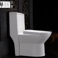 潮州陶瓷卫浴抽水马桶座便器 超漩式普通坐便器 工程价格