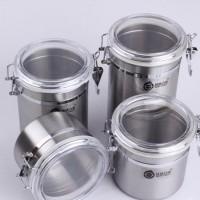 不锈钢密封罐四件套 食品罐 储物罐 茶叶罐 奶粉罐 糖罐