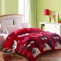 法莱绒四件套加厚 冬季保暖床上用品超柔双面法兰绒批发团购包邮