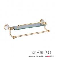 温州水暖挂件 欧式铝制化妆台 陶瓷底座置物架 浴室收纳架 可