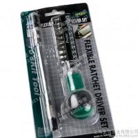 【台湾宝工】10合1软管棘轮螺丝批 组合螺丝刀 套装起子 1PK-201